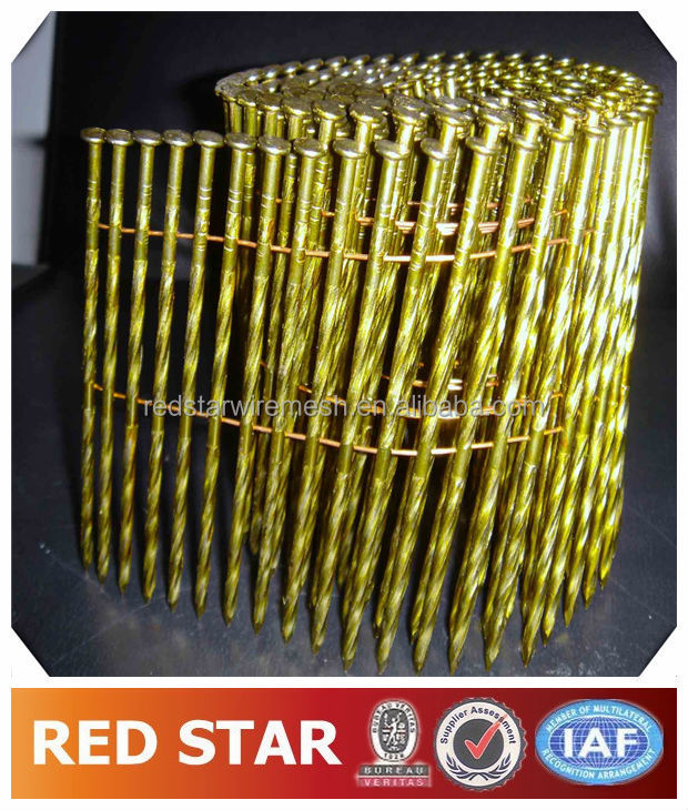 2 1/4''x.099'' WIRE PALLET COIL NAILS SCREW SHANK ON SALE/coil nails for pallets price