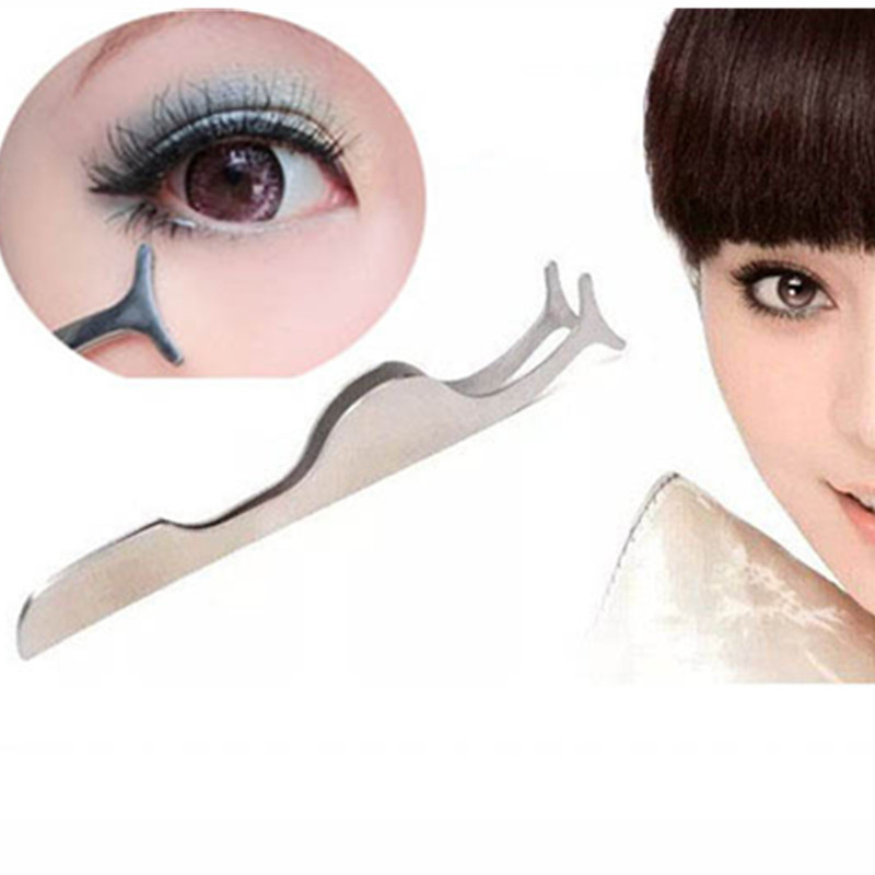 d946386faab False Fake Eyelashes clip stainless steel Eye Lash eyelash curler  Applicator Beauty Makeup Cosmetic Tool