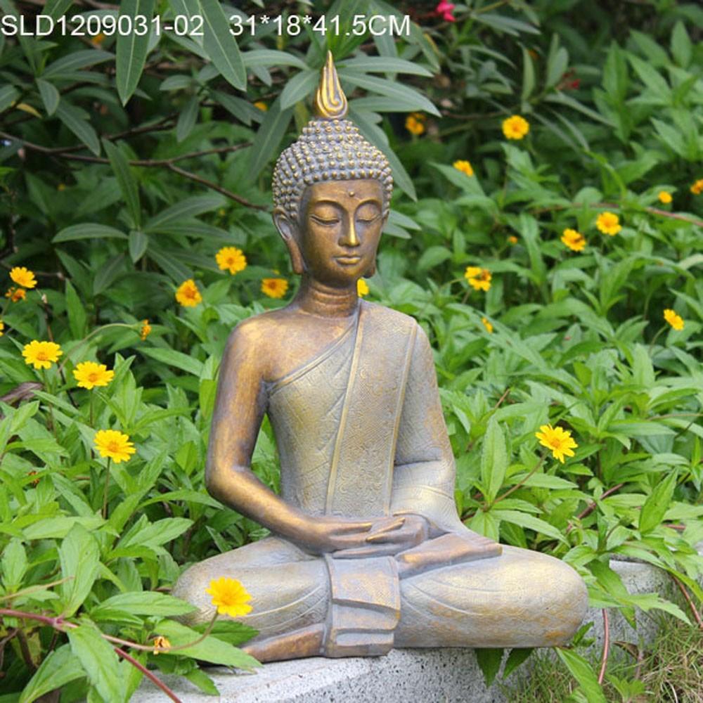 Polyresin decoraci n de jard n de gran estatua de buda tailand s para la venta artesan a resina - Buda jardin ...