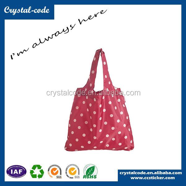 Fashionable Trendy Foldable Reusable Shopping Bag With Zipper
