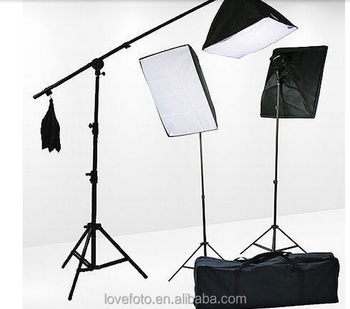 Rectangle Continuous 3pcs 50x70 Softbox Lighting Boom arm 4-bulb head Light Holder Stand Kit  sc 1 st  Alibaba & Rectangle Continuous 3pcs 50x70 Softbox Lighting Boom Arm 4-bulb ...