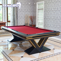 Top quality slate Luxury 8 ball modern billiard pool table with V shape legs