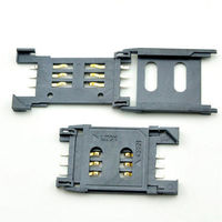 High Quality 10Pcs 6P Clamshell Mobile Phone SIM Card Phone Card Holder For Various Cell Phones