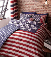 New York City Stars Reversible Duvet Quilt Cover Bedding Set Single Double King