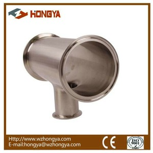 SS304 Sanitary Stainless Steel Tri Clamp Reducing Tee
