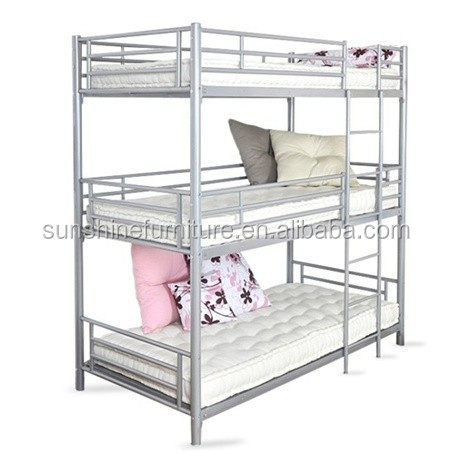Wholesale Modern Bedroom Furniture 3 Tier Triple Metal Bunk Bed Three Kids Bunk Bed View Triple Bunk Bed Sunshine Product Details From Shouguang