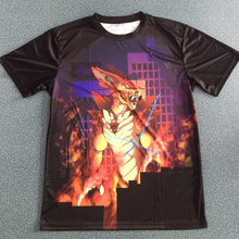 Custom allover printed manga tshirt, sublimation printed anime tshirt