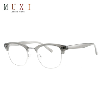 729ec9d0919 2018 chinese made round shape new fashion eyeglasses vintage design clear  lens metal tr90 optic frame