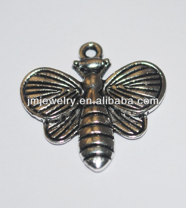 Metal small bee shaped jewelry accessories charms, animal shaped metal clasp