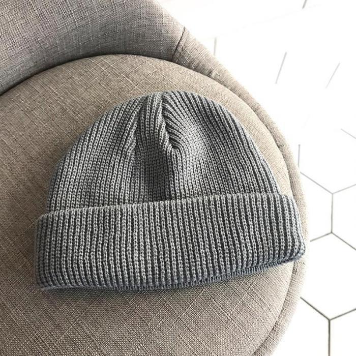 5c881fb90b5a8 2019 Men Knitted Hat Beanie Skullcap Sailor Cap Cuff Brimless Retro ...
