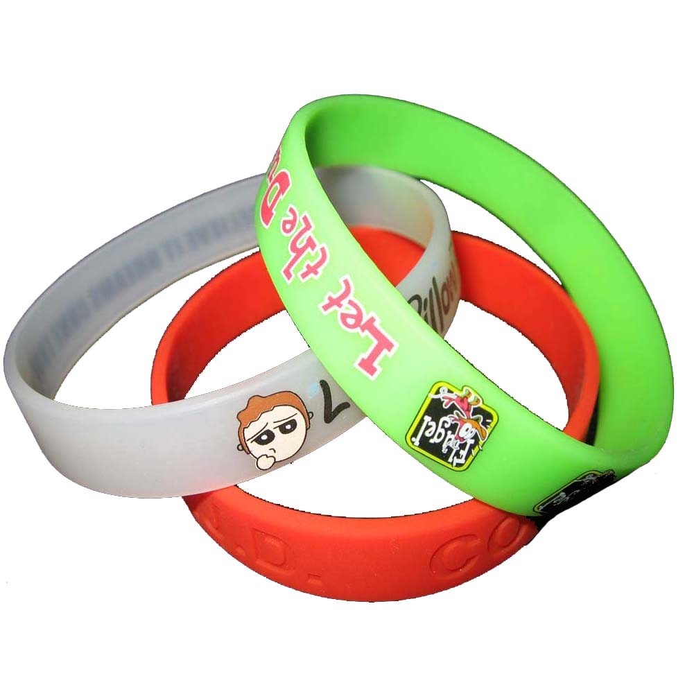factory directly selling colors print silicon bangle