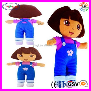 A756 Cuddly Cartoon Dora the Explorer Toy Doll Stuffed Plush Soft Kids Girl Dora Doll