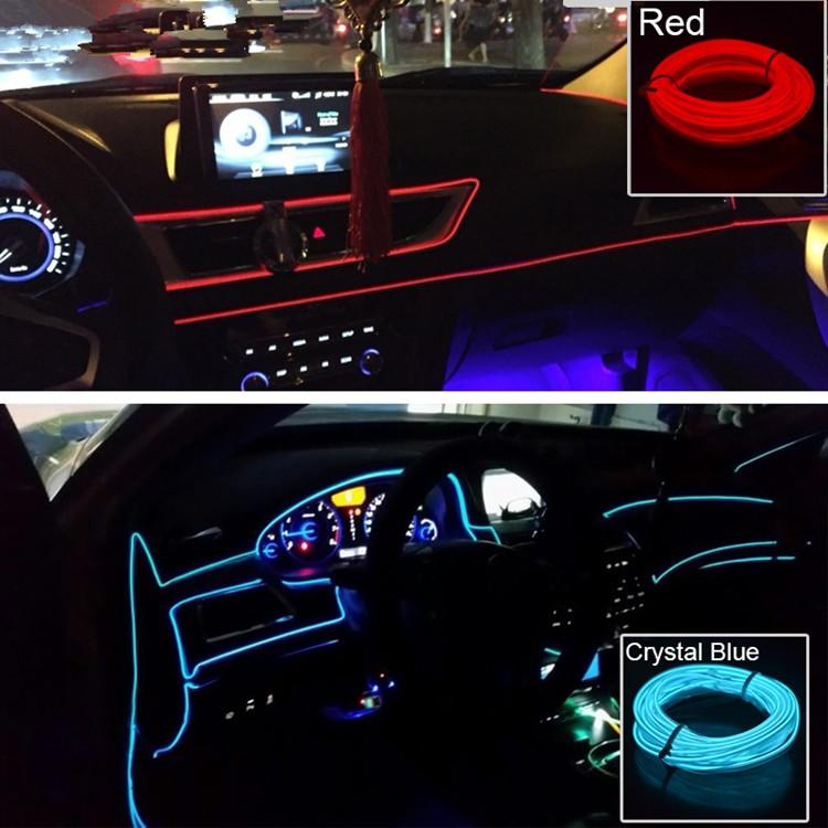 Wondrous 12V Flexible Neon Light Glow El Wire Car Interior Lights For Wiring Database Liteviha4X4Andersnl