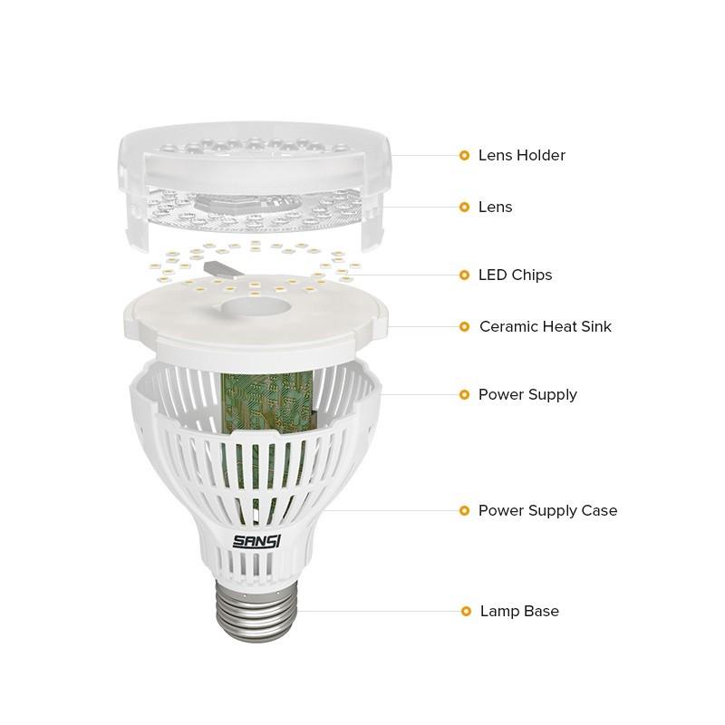 Indoor E26 E27 Led Grow Light Bulb Hydroponic Plant 15w Grow Lamp For Farming Leaf And Melon