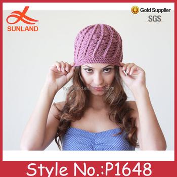 P1648 Wholesale Cashmere Eyeholes Beanie Hats Hand Knit Autumn Cc ...