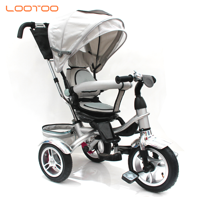 plastic wheels baby carriage tricycle / baby trolley tricycle / pushchair ride-on tricycle 3 in 1