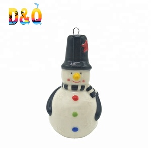 Best price christmas decoration ceramic snowman ornament