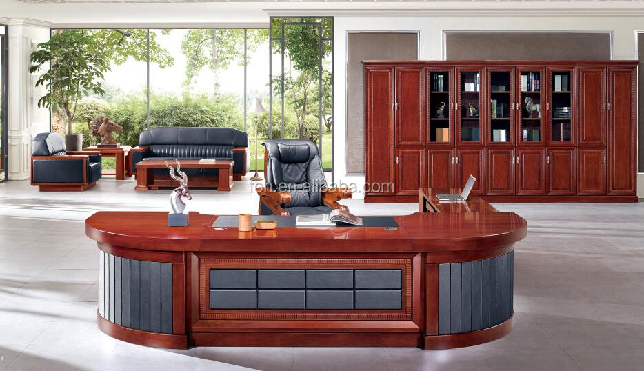 Luxury Executive Office Desk Modern Desks Wooden Fohb7h