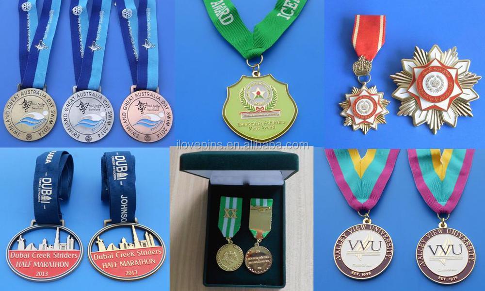 Dubai Marathon Metal Medal With Dirrerent Plating