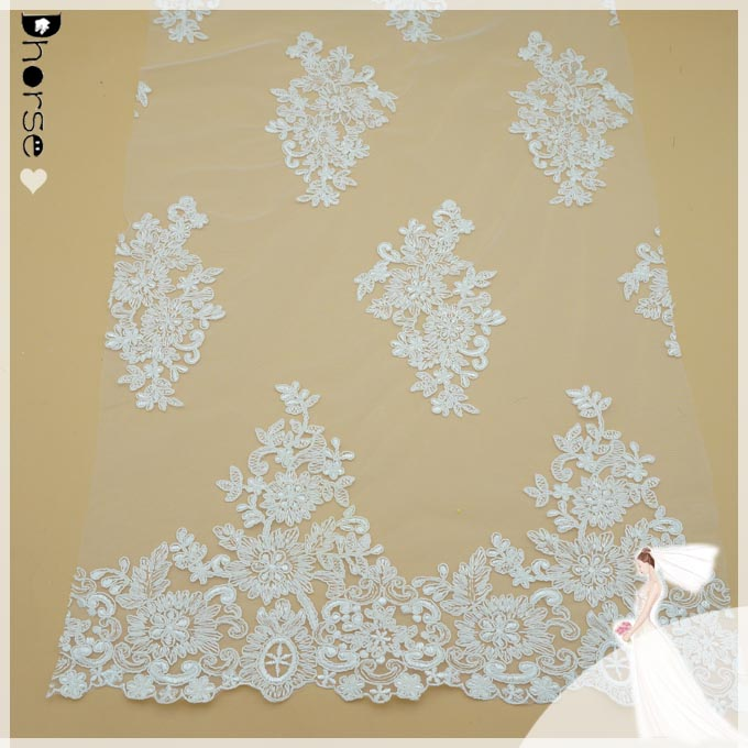 Wholesale Chantilly Lace embroidered bridal african lace fabric