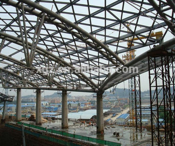space frame steel structure for stadium construction