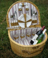 round willow gift picnic baskets