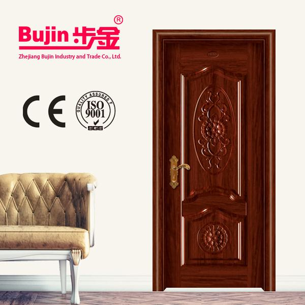 Latest Design House Entry Main Front Metal Flush Steel Irony Door Design