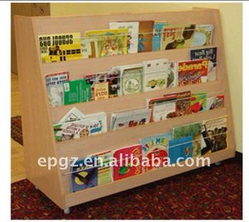 2015 Kindergarten Library Furnitures Preschool Bookshelf For Children