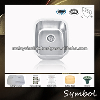 North America Stainless Steel Corner Sink For Bar Counter