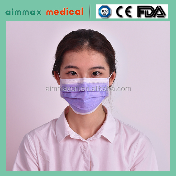Non Woven Disposable Nurse Face Mask With Elastic Earloop ...