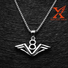 Europe Jewelry 316L Stainless Steel Luck Number V8 Men Biker Pendant