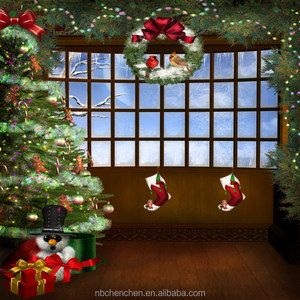Merry Christmas tree celebration artistic wholesale painting art on canvas by numbers for home