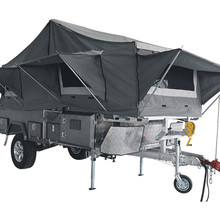 7x6ft High Quality Off-Road Hard Floor Forward Folding Enamel Baking Finish Camper Trailer
