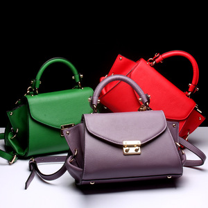 2018 China guangzhou designer women handbag made of genuine leather