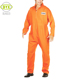 Custom orange prison jumpsuit for men