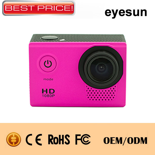 Full HD 1080p Digital Mini Sport Camera 2.0inch Screen Wide Angle TV out