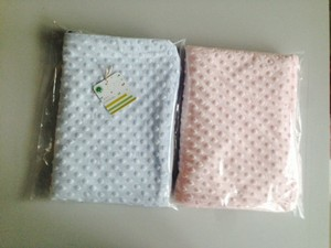 Minky Dot Fabric Two Ply Baby Bubble Blanket
