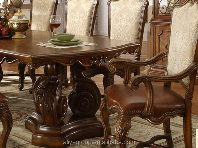 Oak German Master Design Dining Room Furniture Md03 View