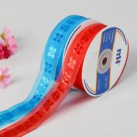 25mm Sheer Jacquard Ribbons for Hair Bows Wedding Craft