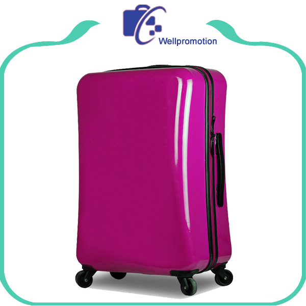 Colorful cheap a lots large abs luggage trolley travel suitcases for teenagers