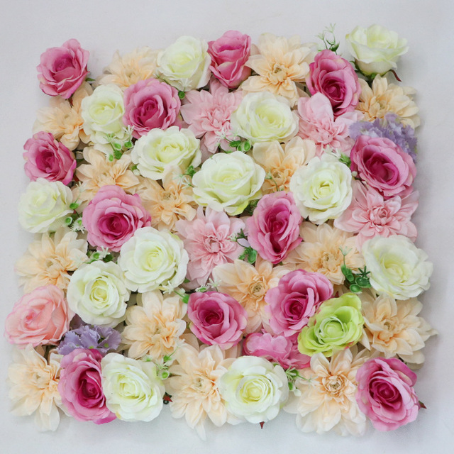 China high quality silk flowers wholesale alibaba zero high quality 5050cm pink silk wedding decoration wall backdrop cloth artificial flower wall mightylinksfo