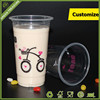 2016 Cheap Wuhan Take Away Plastic Cup for Dessert Clear Hot Printing Ice Cream Plastic Cup Disposable Beer Cup for Wholesale