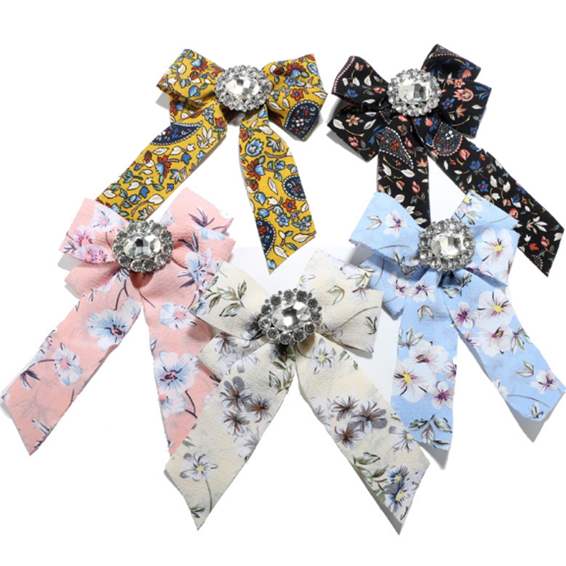 Drop shipping arrival fashlong big statement bow brooches handmade ribbon brooches pink ribbon bow brooches grosgrain bh100468