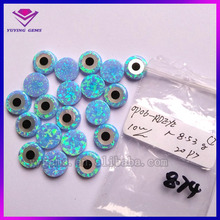 synthetic opal round shape evil eye for 925 Sterling silver necklace