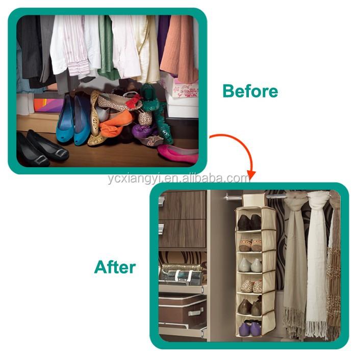 Best Sales Hanging Closet Organizer Fabric Hanging Shoe