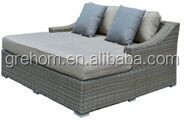 outdoor poolside rattan slumber bed lounger