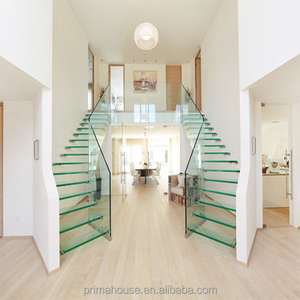 fashion glass stairs build floating staircase