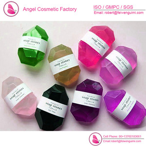 Crystal clear stone shaped handmade soap OEM