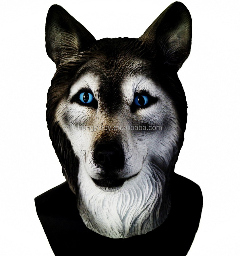 2015 Hot Selling Animal Head Carnival Party Fancy Dress Costume Realistic Halloween wolf Mask