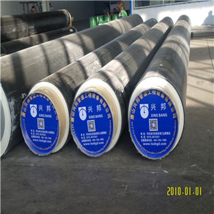 Insulation direct buried cold-resistant and hot-resistant polyurethane insulation steel pipe